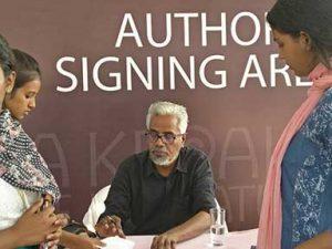 CS Venkiteswaran at the Kerala Literature Festival, Kozhikode